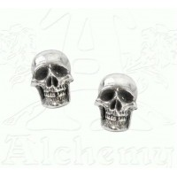Mortaurium Pewter Skull Stud Earring Pair Jewelry Gem Shop  Sterling Silver Jewerly | Gemstone Jewelry | Unique Jewelry
