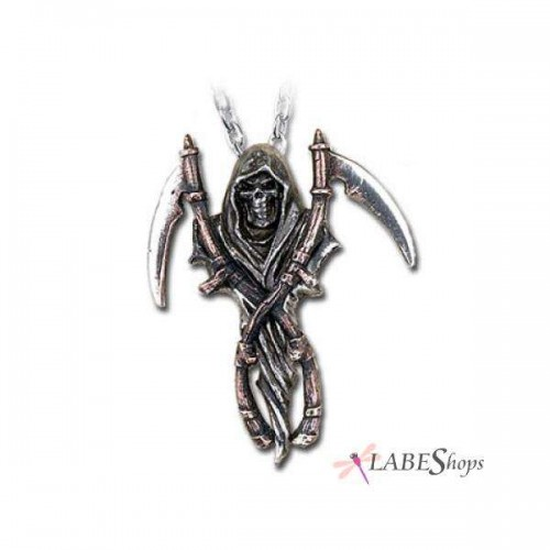Reapers Arms Gothic Pewter Necklace at Jewelry Gem Shop,  Sterling Silver Jewerly   Gemstone Jewelry   Unique Jewelry