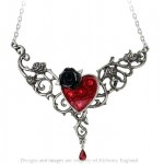 The Blood Rose Heart Pewter Necklace at Jewelry Gem Shop,  Sterling Silver Jewerly | Gemstone Jewelry | Unique Jewelry