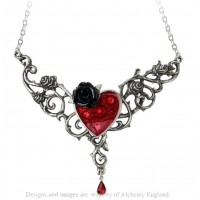 The Blood Rose Heart Pewter Necklace