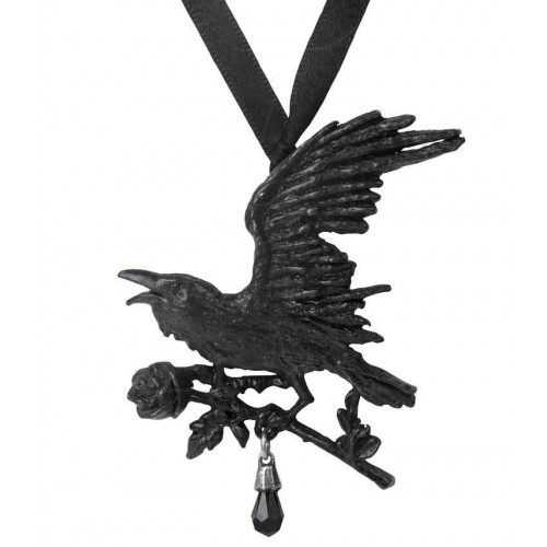 Harbinger Black Raven and Rose Gothic Necklace at Jewelry Gem Shop,  Sterling Silver Jewerly | Gemstone Jewelry | Unique Jewelry