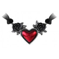 Blood Heart Black Rose Heart Pewter Necklace Jewelry Gem Shop  Sterling Silver Jewerly | Gemstone Jewelry | Unique Jewelry