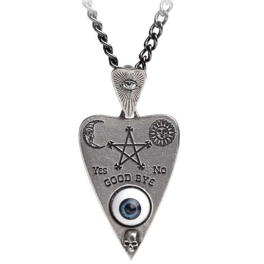 Mystical ouija board planchette pewter necklace occult jewelry mystical ouija board planchette pewter necklace at jewelry gem shop sterling silver jewerly gemstone aloadofball Choice Image