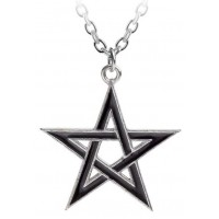 Black Star Pentacle Pendant with Chain