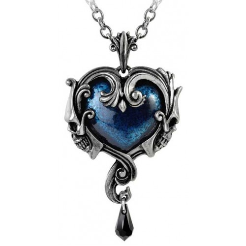 Affaire du Coeur Skull Heart Pendant at Jewelry Gem Shop,  Sterling Silver Jewerly | Gemstone Jewelry | Unique Jewelry