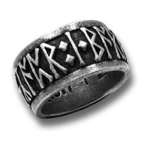 Runeband Pewter Ring