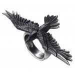 Black Consort Raven Pewter Ring at Jewelry Gem Shop,  Sterling Silver Jewerly | Gemstone Jewelry | Unique Jewelry