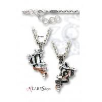 Tattoo Gun Pewter Necklace Jewelry Gem Shop  Sterling Silver Jewerly   Gemstone Jewelry   Unique Jewelry
