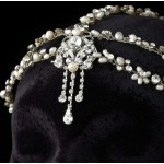 Pearl and Rhinestone Forehead Accent Head Piece at Jewelry Gem Shop,  Sterling Silver Jewerly | Gemstone Jewelry | Unique Jewelry