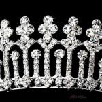 Diana Regal Rhinestone Silver Tiara Headpiece at Jewelry Gem Shop,  Sterling Silver Jewerly | Gemstone Jewelry | Unique Jewelry