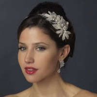 Silver Leaf and Pearl Bridal Headband Jewelry Gem Shop  Sterling Silver Jewerly | Gemstone Jewelry | Unique Jewelry