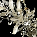 Silver Floral Vine Side Accented Bridal Headpiece at Jewelry Gem Shop,  Sterling Silver Jewerly | Gemstone Jewelry | Unique Jewelry