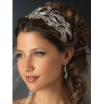 Deco Style Rhinestone Wide Silver Headband at Jewelry Gem Shop,  Sterling Silver Jewerly | Gemstone Jewelry | Unique Jewelry
