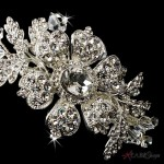 Charming Side Floral Rhinestone Bridal Headpiece at Jewelry Gem Shop,  Sterling Silver Jewerly | Gemstone Jewelry | Unique Jewelry
