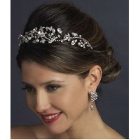 Antique Style Rhinestone and Pearl Headband
