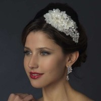 Ivory Floral Applique Headband Jewelry Gem Shop  Sterling Silver Jewerly | Gemstone Jewelry | Unique Jewelry