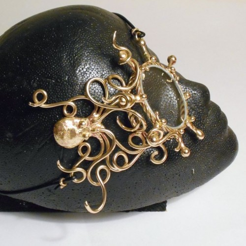 Octopus Bronze Steampunk Monocle at Jewelry Gem Shop,  Sterling Silver Jewerly | Gemstone Jewelry | Unique Jewelry
