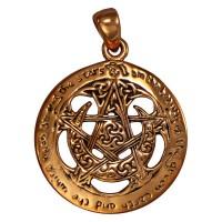 Moon Pentacle Large Cut Out Pagan Pendant