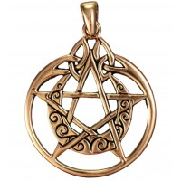 Crescent Moon Pentacle Pendant in Copper Jewelry Gem Shop  Sterling Silver Jewerly | Gemstone Jewelry | Unique Jewelry