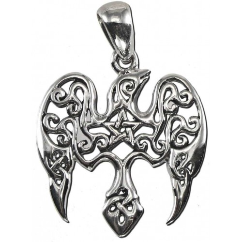 Raven Pentacle Sterling Silver Small Morrigan Pendant at Jewelry Gem Shop,  Sterling Silver Jewerly | Gemstone Jewelry | Unique Jewelry