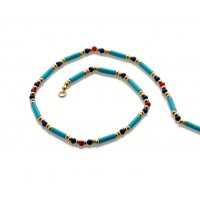 Egyptian Turquoise and Lapis Bead Necklace Jewelry Gem Shop  Sterling Silver Jewerly | Gemstone Jewelry | Unique Jewelry