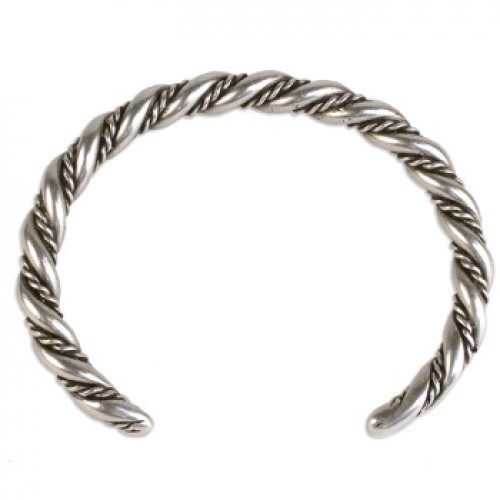 Viking Twisted Rope Cuff Bracelet at Jewelry Gem Shop,  Sterling Silver Jewerly | Gemstone Jewelry | Unique Jewelry