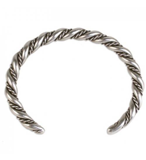 Viking Twisted Rope Cuff Bracelet at Jewelry Gem Shop,  Sterling Silver Jewerly   Gemstone Jewelry   Unique Jewelry