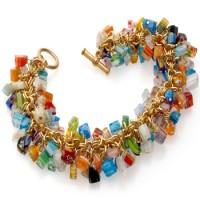 Mosaic Glass Chip Bracelet Jewelry Gem Shop  Sterling Silver Jewerly | Gemstone Jewelry | Unique Jewelry
