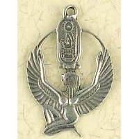 Isis Cartouche Pewter Necklace