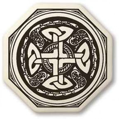 Celtic Cross Octogonal Porcelain Necklace at Jewelry Gem Shop,  Sterling Silver Jewerly | Gemstone Jewelry | Unique Jewelry