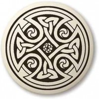 Celtic Cross Round Porcelain Necklace Jewelry Gem Shop  Sterling Silver Jewerly | Gemstone Jewelry | Unique Jewelry