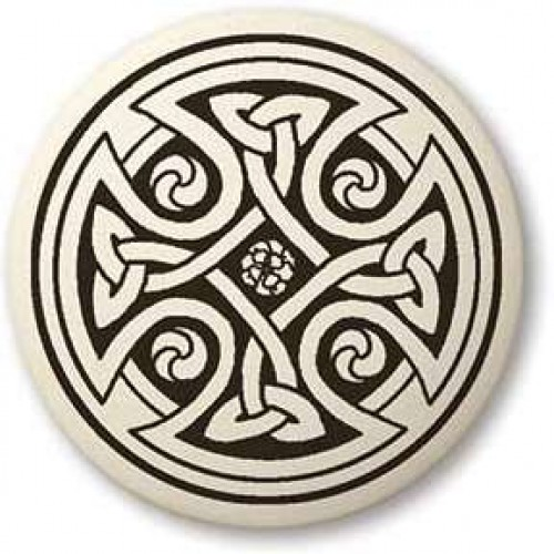 Celtic Cross Round Porcelain Necklace at Jewelry Gem Shop,  Sterling Silver Jewerly | Gemstone Jewelry | Unique Jewelry
