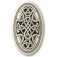 Celtic Cross Oval Porcelain Necklace Jewelry Gem Shop  Sterling Silver Jewerly | Gemstone Jewelry | Unique Jewelry