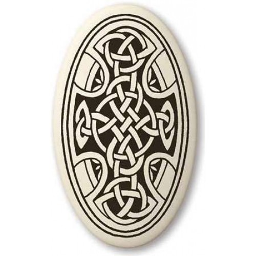 Celtic Cross Oval Porcelain Necklace at Jewelry Gem Shop,  Sterling Silver Jewerly | Gemstone Jewelry | Unique Jewelry