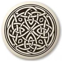 Celtic Spiritual Journey Porcelain Round Necklace Jewelry Gem Shop  Sterling Silver Jewerly | Gemstone Jewelry | Unique Jewelry
