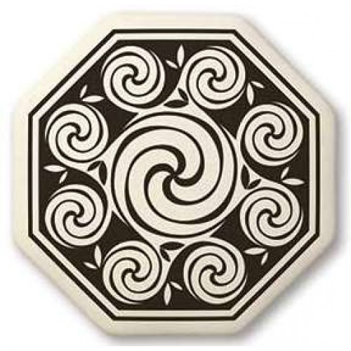 Celtic Spirals Porcelain Octagonal Necklace at Jewelry Gem Shop,  Sterling Silver Jewerly | Gemstone Jewelry | Unique Jewelry