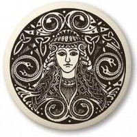 Brigantia Celtic Goddess Porcelain Round Necklace Jewelry Gem Shop  Sterling Silver Jewerly | Gemstone Jewelry | Unique Jewelry