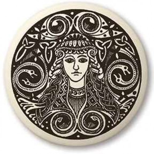 Brigantia Celtic Goddess Porcelain Round Necklace at Jewelry Gem Shop,  Sterling Silver Jewerly | Gemstone Jewelry | Unique Jewelry