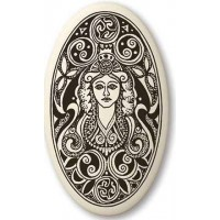 Brigantia Celtic Goddess Porcelain Oval Necklace Jewelry Gem Shop  Sterling Silver Jewerly | Gemstone Jewelry | Unique Jewelry