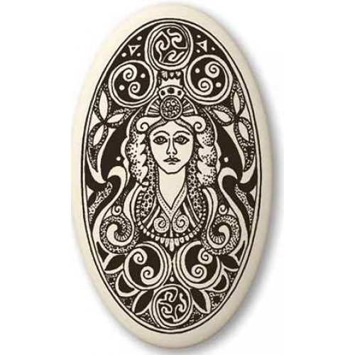 Brigantia Celtic Goddess Porcelain Oval Necklace at Jewelry Gem Shop,  Sterling Silver Jewerly | Gemstone Jewelry | Unique Jewelry