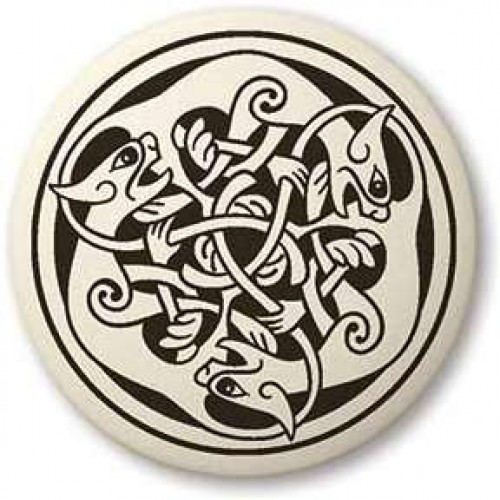 Cat Celtic Round Porcelain Necklace at Jewelry Gem Shop,  Sterling Silver Jewerly | Gemstone Jewelry | Unique Jewelry
