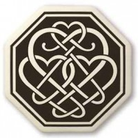 Celtic Heart Octagon Porcelain Necklace