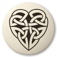 Celtic Heart Round Porcelain Necklace Jewelry Gem Shop  Sterling Silver Jewerly | Gemstone Jewelry | Unique Jewelry