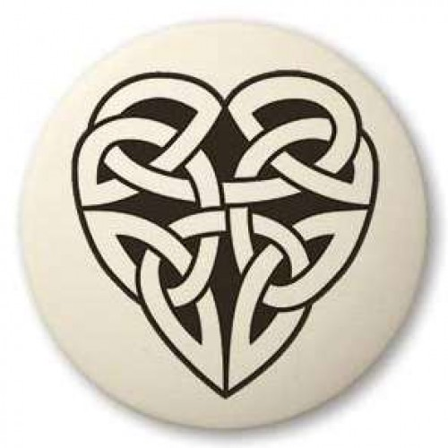 Celtic Heart Round Porcelain Necklace at Jewelry Gem Shop,  Sterling Silver Jewerly | Gemstone Jewelry | Unique Jewelry
