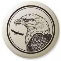 Bald Eagle Pathfinder Animal Totem Porcelain Necklace