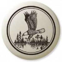 Bald Eagle Soaring Pathfinder Totem Porcelain Necklace Jewelry Gem Shop  Sterling Silver Jewerly | Gemstone Jewelry | Unique Jewelry