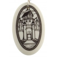 Camelot Arthurian Legends Porcelain Necklace