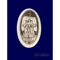 Ladies of Avalon Arthurian Legends Porcelain Necklace