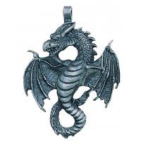 Air Dragon Pewter Necklace