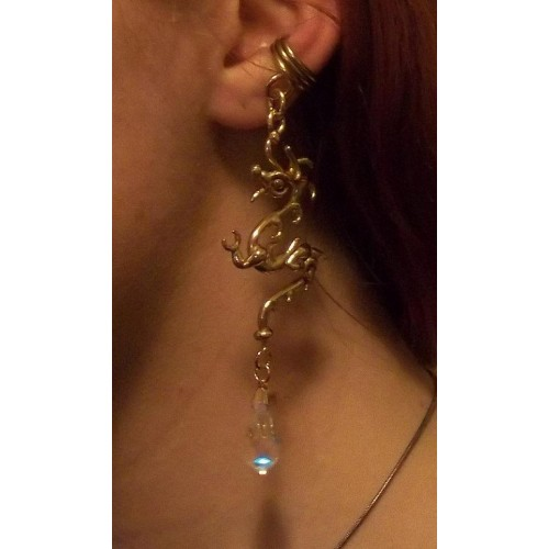 Bronze Dragon Ear Cuff with Crystal at Jewelry Gem Shop,  Sterling Silver Jewerly | Gemstone Jewelry | Unique Jewelry